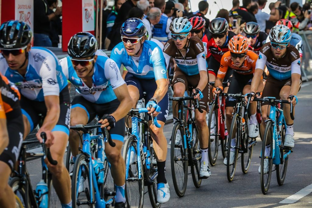The laws of the peloton: cycling in a group.